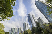 Vancouver BC Downtown Waterfront Condominiums — Stock Photo