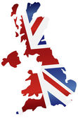 UK England Flag Map Silhouette — Vector de stock