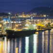 Pulp and Paper Mill at Port of Vancouver BC — Stock Photo