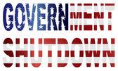 Government Shutdown US Flag Illustration — Stock Vector