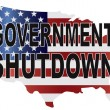 Government Shutdown USMap Illustration — Stock Vector #32619857