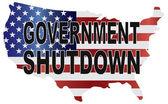 Government Shutdown USA Map Illustration — Stock Vector