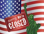 Government Shutdown Statue of Liberty — Stock Vector