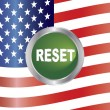 Government Shutdown Reset Button with US Flag Illustration — Stock Vector #33242775