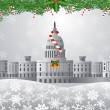 Washington DC Capitol Christmas Scene Illustration — Stock Vector #33304031