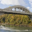 Stock Photo: Oregon City Arch Bridge Over Willamette River in Fall