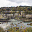 Hydro Power Plant at Willamette Falls in Autumn — Stock Photo