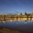 Portland Downtown with Hawthorne Bridge at Dusk — Stock Photo #35216827