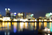 Portland Downtown Out of Focus City Lights — 图库照片