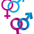 Stock Vector: Male and Female Gender Symbol Intertwined