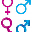 Male Female Gender Symbols Illustration — Stock Vector