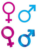 Male Female Gender Symbols Illustration — Stock Vector