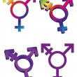 Transgender Symbols Illustration — Stock Vector