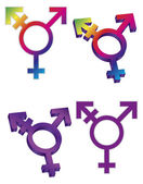 Transgender Symbols Illustration — Vetorial Stock