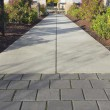 Foto de Stock  : Commercial Outdoor Sidewalk Landscaping
