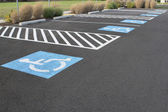 Handicapped Parking Spaces — Stock Photo