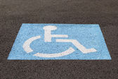 Handicapped Parking Space Closeup — Stock Photo