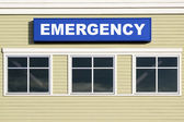 Emergency Sign Outside Hospital Building — Stock Photo