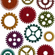Wooden Gears Illustration — Stock Photo