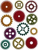 Wooden Gears Illustration — Stock Photo