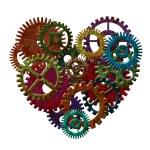 Rusty Metal Gears Forming Heart Shape Illustration — Stock Photo #35990309