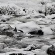 Water Flowing along Latourell Creek in Deep Freeze Winter 1920x1080 — Stock Video