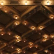 Stock Video: Theater Ceiling with Retro Flashing Marquee Lights in Downtown 1080p