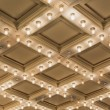 Stock Photo: Old Theater Marquee Ceiling Lights Vertical