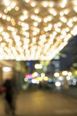 Theater Marquee Lights on Broadway Blurred Lights — Stock Photo