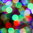 Stock Photo: Christmas Tree Colorful Lights Bokeh