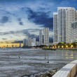 Stock Photo: Gurney Drive at Sunset in Penang Panorama