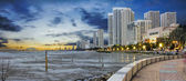 Gurney Drive at Sunset in Penang Panorama — Stock Photo