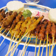 Satay Chicken Beef and Mutton — Stock Photo #39665209