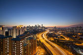 Kuala Lumpur Skyline with Highway at Twilight — Foto de Stock