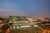Singapore Housing Estate by MRT Train Station — Stock Photo