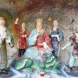 Постер, плакат: Di Zang Wang Buddha with Attendants Diorama