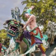 Stock Photo: Wu Song Slaying Tiger Statue at Haw Par Villa