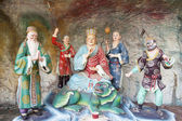 Di Zang Wang Buddha with Attendants Diorama — Stock Photo