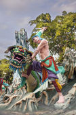 Wu Song Slaying Tiger Statue at Haw Par Villa — Foto de Stock