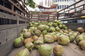 Fresh Coconuts Delivery Truck — Stock Photo