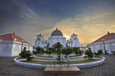 Malacca Straits Mosque Front Entrance — 图库照片