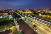 Eunos MRT Train Station at Dawn — Stock Photo