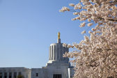 State of Oregon Capitol with Golden Pioneer Statue — Stock Photo