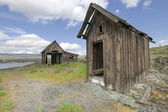 Old Abandoned Native American Fishing Shacks — Photo