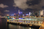 Hong Kong Central Ferry Pier at Night — Stock fotografie