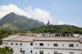Tian Tan Buddha at Ngong Ping Village — Stock Photo