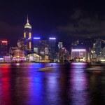 Hong Kong Island Central City Skyline at Night — Stock Photo #48140363