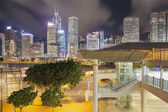 Hong Kong Skyline by Central Pier — Stock Photo