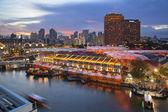 Singapore Clarke Quay After Sunset — Stock Photo