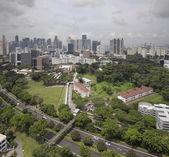 Singapore CBD City Skyline — Stock Photo